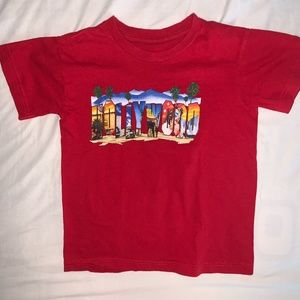 New Red Children's Hollywood Tee- S